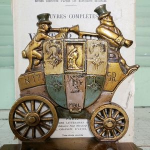 Antique Cast Iron English Mail Carriage Stagecoach